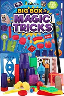 3 Bees & Me Deluxe Magic Kit Set with Toy Wand & 75 Magic Tricks for Beginners..