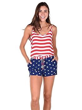 Tipsy Elves Women s American Flag Romper  Large