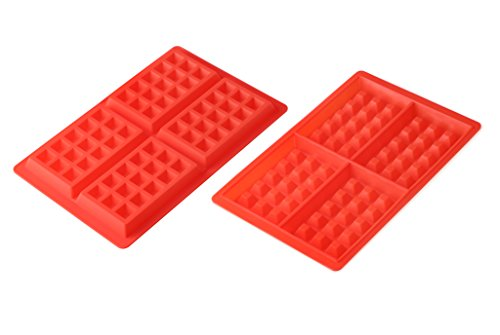 Mlying Schokoladenform Kuchenform Waffelform Eiswürfelform Schokoladen Tafeln Machen, Silikon, Style 3, 2pcs