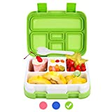 Bento Box for Kids School Lunch Box DaCool Upgraded Toddler Lunch Container with Spoon 5-Compartment...