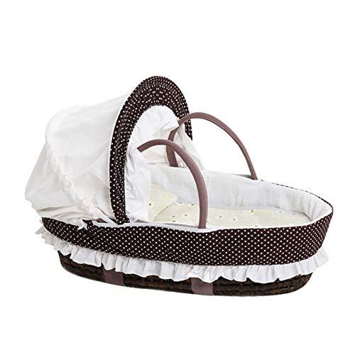 WGXQY Draagbare Baby Slaapmandje, Reiswieg Pasgeboren Handgemaakte Plant Weven Mand Verwijderbaar En Wasbaar voor 0~9 Maanden Baby Bionic Bed