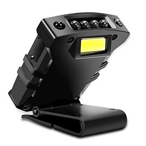 ZTKGB ultra-highlight-koplamp, USB-oplaadbare LED-verlichting, smart sensor-koplamp, zaklamp aan de hoed, bevestigd voor outdoor-bergbeklimmen, reizen, paardrijden, lichtsnoer