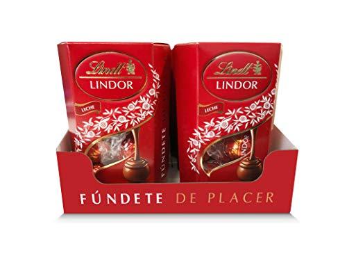 Lindt Lindor Cornet Bombones de Chocolate con Leche 75gr - Caja de 12 unidades (12 x 75gr)