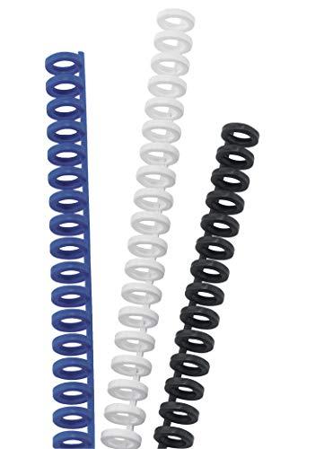 GBC ClickBind 387357E - Canutillo Clic, 16 mm, 145 Hojas de Capacidad, A4, 34 Bucles, Negro, 50 unidades