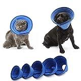 Collares y Conos de Recuperación Collar Isabelino Perro Collares para Perros Pet Embudo Cono Perro Cono Suave Collar para Cachorros Blue,5#