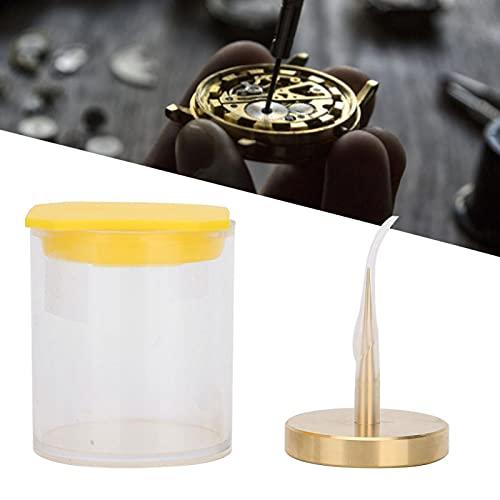 Soporte para balanzas de reloj, herramienta de latón para balanzas de reloj, accesorio para reparación de relojes, soporte para herramientas de reparación de relojes para relojeros y trabajadores de r