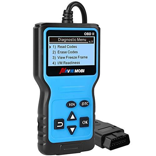 OBD2 Diagnosegerät Universal,Profi KFZ Diagnosegerät Scanner Automotor Fehlercode Diagnosewerkzeuge für alle Fahrzeuge mit OBD II EOBD Protokoll,Blau