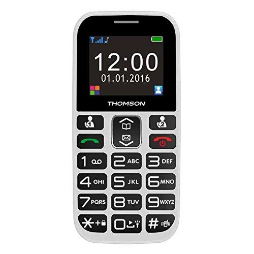 Thomson Serea 49 1.8Zoll Weiß Einsteigertelefon - Handys (Balken, Single SIM, 4,57 cm (1.8 Zoll), Bluetooth, 800 mAh, Weiß)