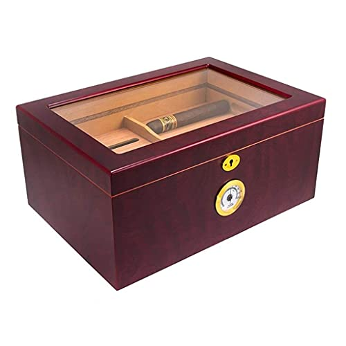 Juego para fumar / Accesorios para puros y humidor Humidores Barware Caja de cigarros Cigar Capacidad grande Caja de cigarros Cigar Cigar Gabinete Mostrar Humedad Humedad Gabinete Armario Electrónico