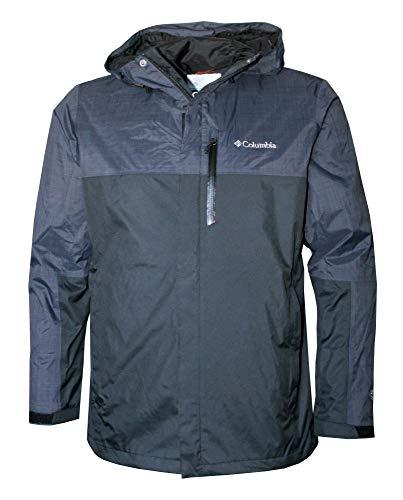 Columbia Men's Jefferson Park II Omni Heat Waterproof Hooded Shell Jacket (Black, M)