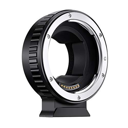 K&F Concept Autofokus Adapter EF-NEX Automatik Objektivadapter mit CDAF-Schalter für Canon EOS EF Objektiv auf Sony E-Mount Kamera