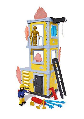 Simba 109257652 - Feuerwehrmann Sam Großer Trainings-Turm mit Figur 42 cm