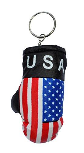 Keyrings USA Mini Gepolsterter Boxhandschuh Schlüsselring (Boxing Glove)