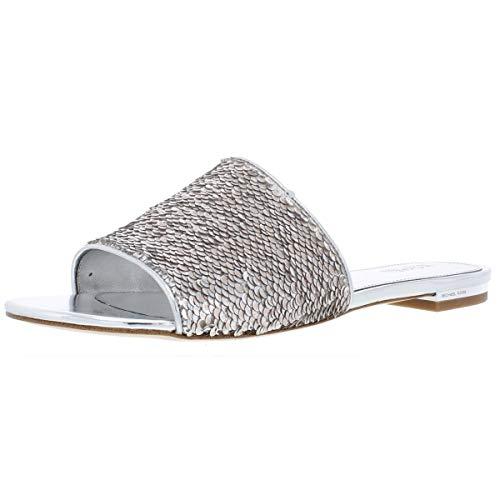 Michael Michael Kors Shelly Slide Sandals Sequin Silver (9)
