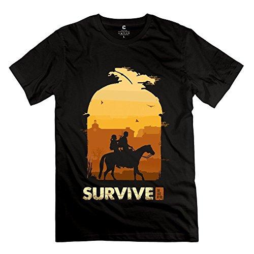 Desolate Cute The Last Of Us Joel Ellie Men's Tshirt Black