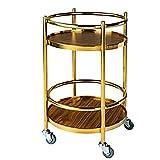Carrito de barra Carrito de almacenamiento de cocina Botellero de madera maciza con ruedas Kicthen Bar Comedor Té Soporte para vino Carrito de barra rodante Muebles Cocina Carrito de baño 40 X 68Cm 3