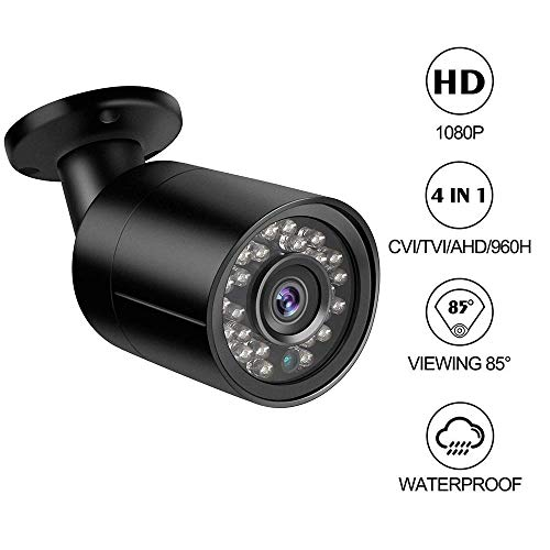Cámara para Exteriores Bullet Dericam 1080P 1920TVL, cámara analógica HDCVI/HDTVI/AHD/960H, Carcasa de Metal IP66, 25M de visión Nocturna, ángulo de visión de 85°, Formato de Video PAL, B2B, Negro