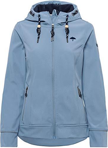 Schmuddelwedda Damen Softshelljacke Anorak Jeansblau S