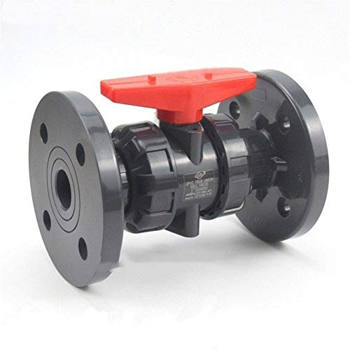 """Sturdy 1pc 1/2""""~4""""(DN15~DN100) UPVC Flange Ball Valve Industrial Water Treatment PVC Pipe Valve Garden Water Pipe Connector Union Joint (Color : Grey, Diameter : 4 Inch (DN100))"""