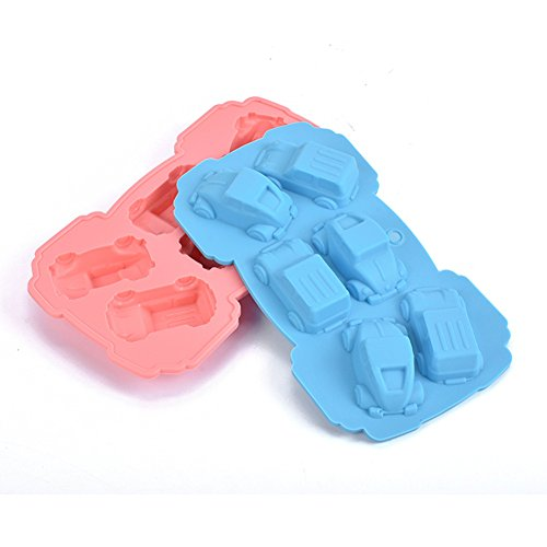 Always Your Chef Silicone 2 Pack Ice Cube Trays & Candy Molds & Chocolate Molds,Cars Shaped,Random Color