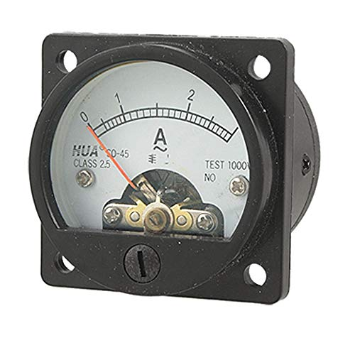 Schwarz Analog Amperemeter Messamperemeter Messgerät AC 0-3A Rund Analog Panel Meter Strom