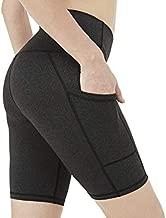 CQC Women's Yoga Compression Shorts High Waist Tummy Control Workout Running Athletic Bike Shorts Charcoal Gray M
