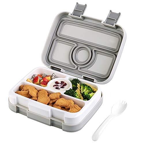 Bento Box For Kids Children  Insulated Lunch Box Leakproof Lunch Container Meal Prep Containers  BPA-Free Microwave Safe Lunchbox With 4 Insulated Compartment&Removable Tray