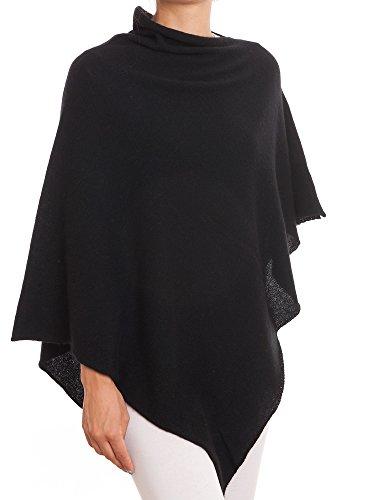 DALLE PIANE CASHMERE - Poncho aus 100% Kaschmir - für Frau, Farbe: Schwarz, Einheitsgröße