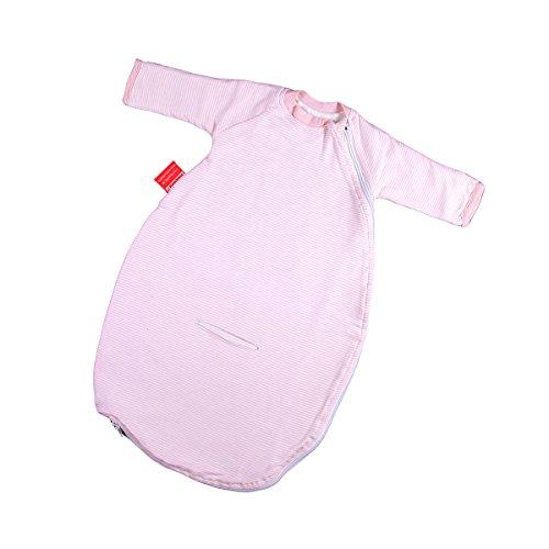 Hoppediz Baby-Schlafsack 56-62 rosé gestreift mit Gurtschlitz