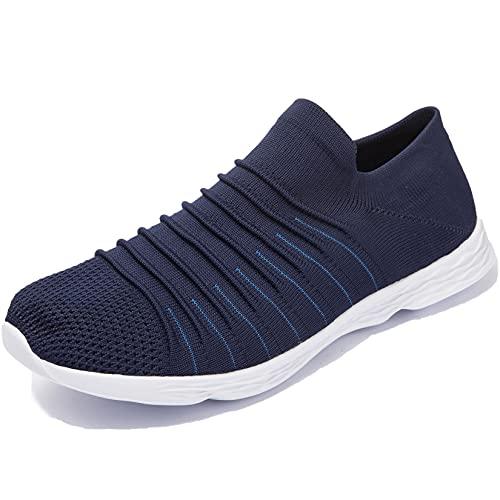 Zapatillas Casuales para Hombre Calzado Deportivo Bajas de Moda Sandalias de Verano Ligeras y Transpirables Azul 46