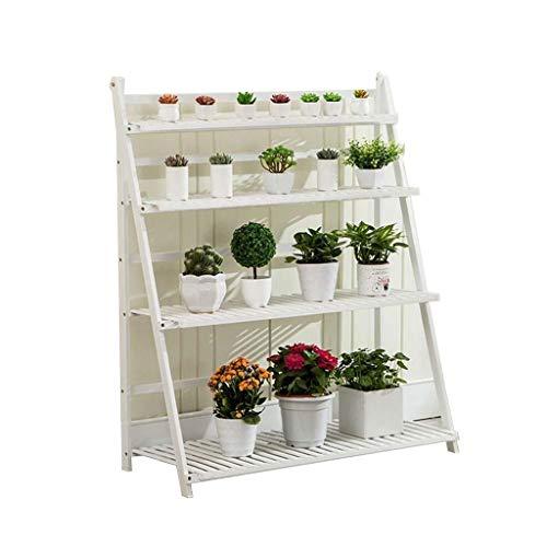 YINUO Étagère à fleurs Type de plancher en bois massif Pliant à l'intérieur Balcon sur plusieurs étages Salon Charnière (Size : 80x120cm)