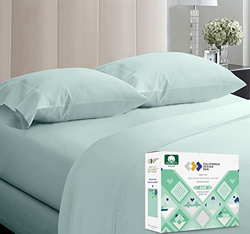 5-Star Hotel 600 Thread Count 100% Cotton Sheets Set - Soft & Smooth Queen Sheet for Bed with Deep Pockets, Quality Beats Egyptian Cotton Sheets and...