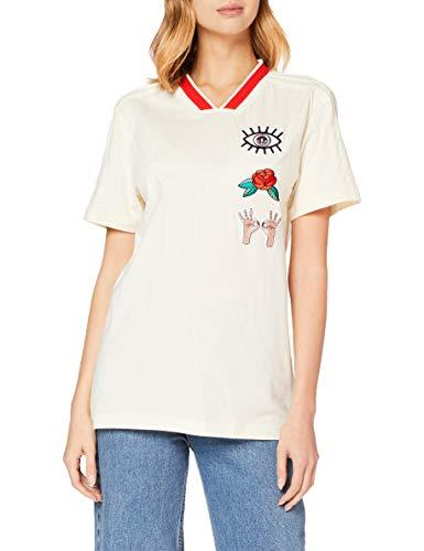 adidas EA Boyfriend T Camiseta, Mujer, Blanco (Blacre), 34