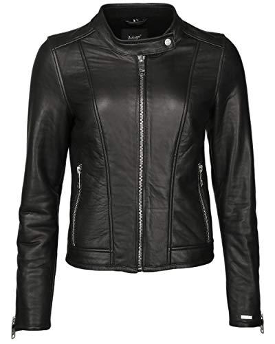 Maze Chaqueta de piel cálida para mujer 4201911, color negro