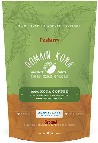 100% Kona Coffee PEABERRY – GROUND