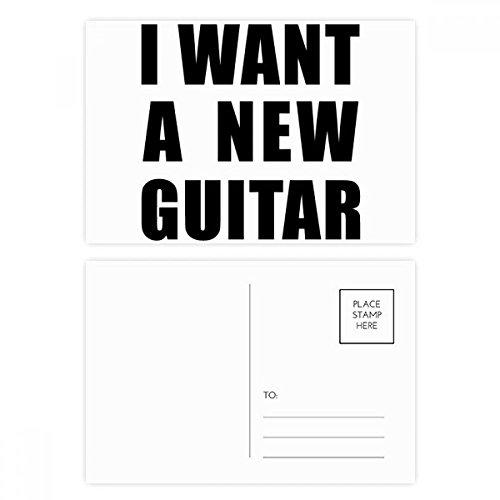 DIYthinker Ich möchte eine neue Gitarre Postkartenset Geburtstag dankt Karte Mailing Side 20pcs 5.7 Zoll x 3.8 Zoll Mehrfarbig