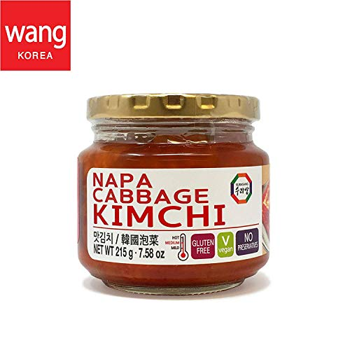 Korean Bottled Kimchi, Original Authentic Tasteful Bottle Napa Cabbage Kimchi, Vegan Gluten Free [No Preservatives] - 7.58 oz (1 Bottle)