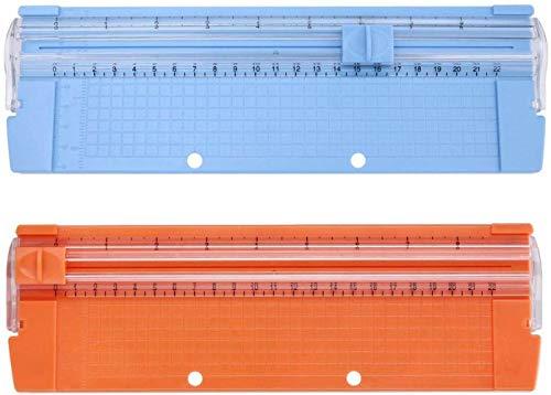 紙カッター 裁断機 ペーパーカッター 小型紙カッター ポータブル紙カッター A4/A5 ブレード交換可能 精密 写真 スクラップブック ランダムな色