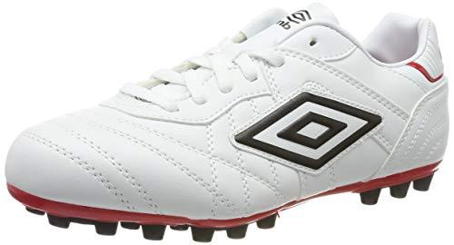 Umbro Speciali Eternal Club, Botas de fútbol Hombre, Blanco (White/Black/Vermillion 2VZ), 42,5 EU