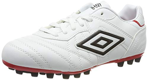 Umbro Speciali Eternal Club, Botas de fútbol para Hombre, Blanco (White/Black/Vermillion 2VZ), 42,5 EU
