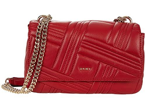 DKNY Allen Medium Flap Shoulder Bright Red One Size