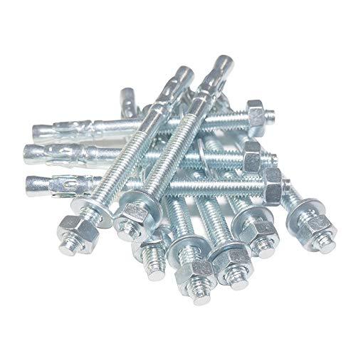 Schwerlastanker 5 Stück M8 80mm verzinkt Ankerbolzen Keilanker Bolzenanker Blitzdübel Ankerschraube (5, M8 Ø8mm x L80mm)