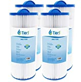 Tier1 Pool & Spa Filter Replacement for Jacuzzi J300 6541-383 Models for J300 Series Hot Tubs - Pleated Water Filter to Reduce Water Contaminants - 4 Pack