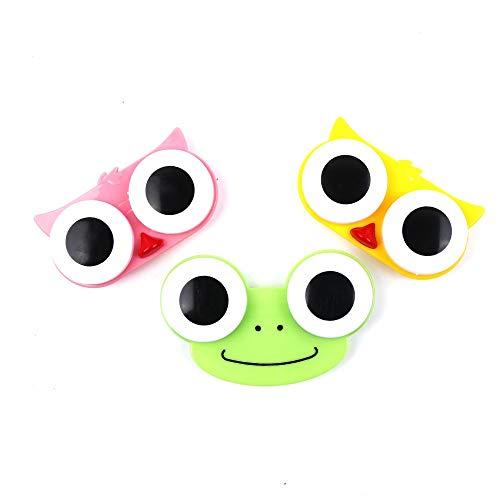 Chenhan Mini 1PCS 3D Big Eyes Kontaktlinsen Box Amp Fall Eule Frosch-Tierform-Kontaktlinse-Kasten praktisch