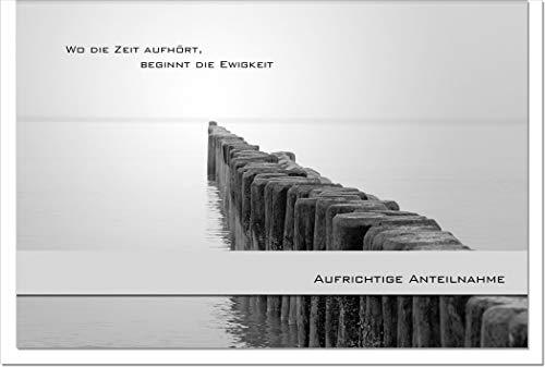 metALUm Trauerkarte FERNES LAND | BUHNE | TK026S