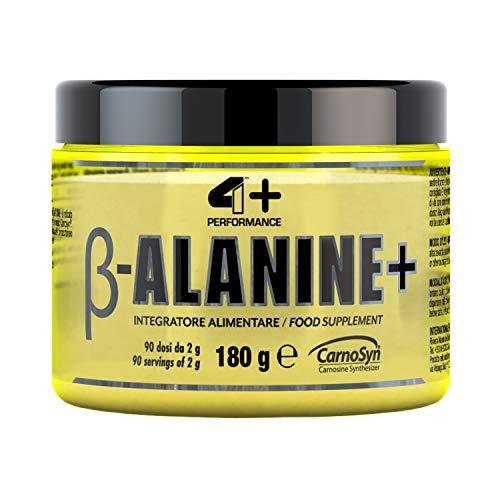 4+ NUTRITION - β-Alanine+, Suplemento deportivo, alanina, para deportistas que practican una actividad intensa, 180 g, 90 dosis de 2 g