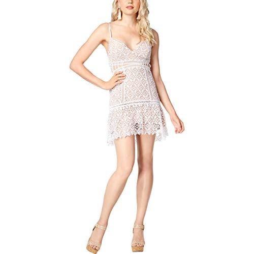 Guess Damen Sleeveless Forbidden Dress Cocktailkleid, reinweß, Groß