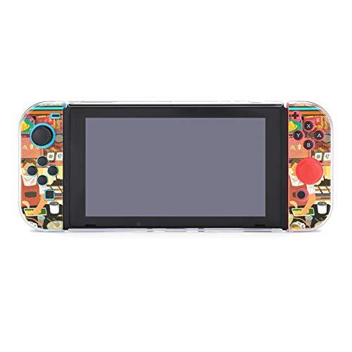 Illustration Switch - Carcasa para Nintendo Switch con protector de pantalla, funda protectora para Nintendo Switch