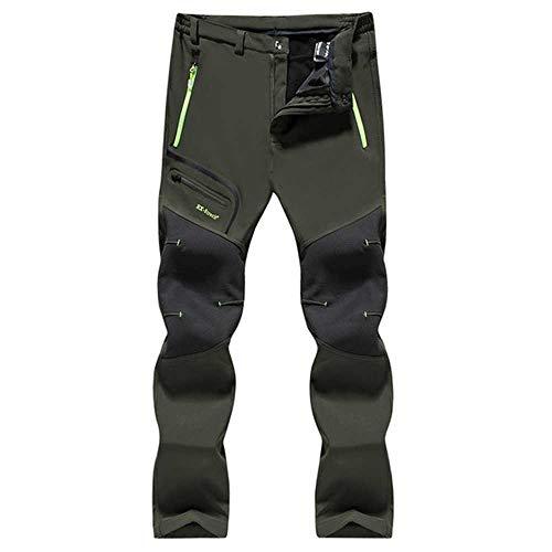 NOBRAND Tactical Waterdichte Wandelbroek Mannen Ademende Stretch Softshell Fleece Gevoerde Broek Buiten Sport Plus Size Winter