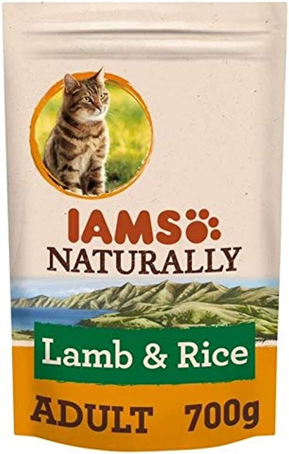 2X Iams Naturally Adult Cat with New Zealand Lamb & Rice 700g
